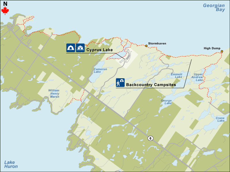 Find A Site Bruce Peninsula National Park - National parks locations map