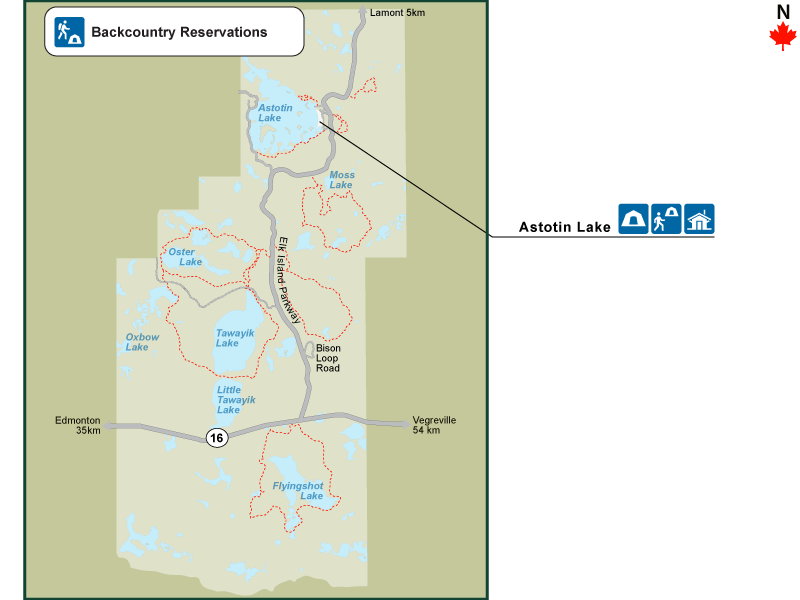 Elk Island National Park Map Find a site   Elk Island National Park of Canada