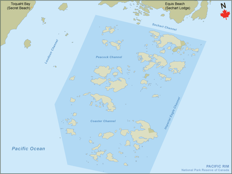 Islands Of Canada Map.Find A Site Pacific Rim National Park Reserve Broken Group